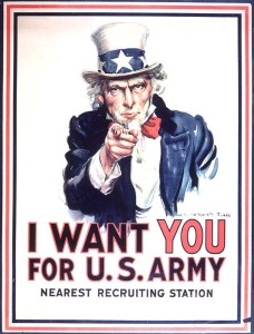 James Montgomery Flagg (1877-1960) I Want You for the U.S. Army Lithograph, 1917