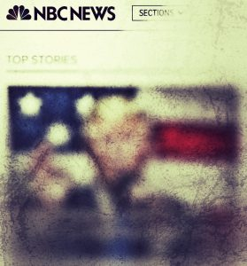 Photo Illustration of NBC's Mobile Homepage 10/08/16