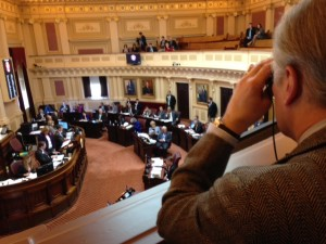 Jeff Schapiro of the Richmond Times-Dispatch covers the Virginia Senate (Photo by Peter Vieth)