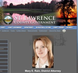 A photo of St. Lawrence County District Attorney Mary Rains on the county website.
