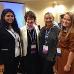 Miami students Sara Dastagir and Sarah McIlwain grabbed NPR star Michele Norris for a group shot.